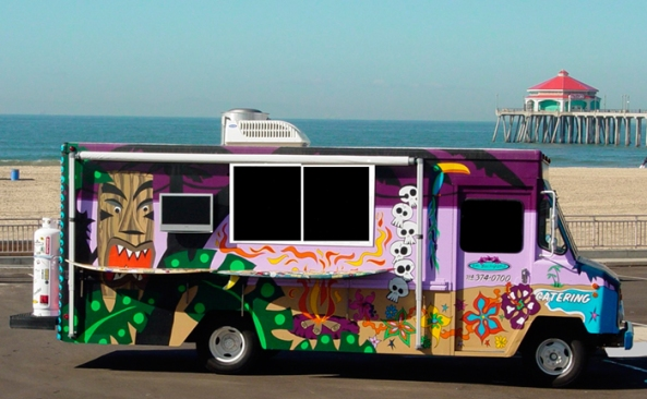 One colorful food truck